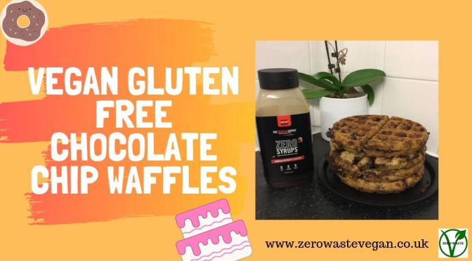 vegan gluten free chocolate chip WAFFLES